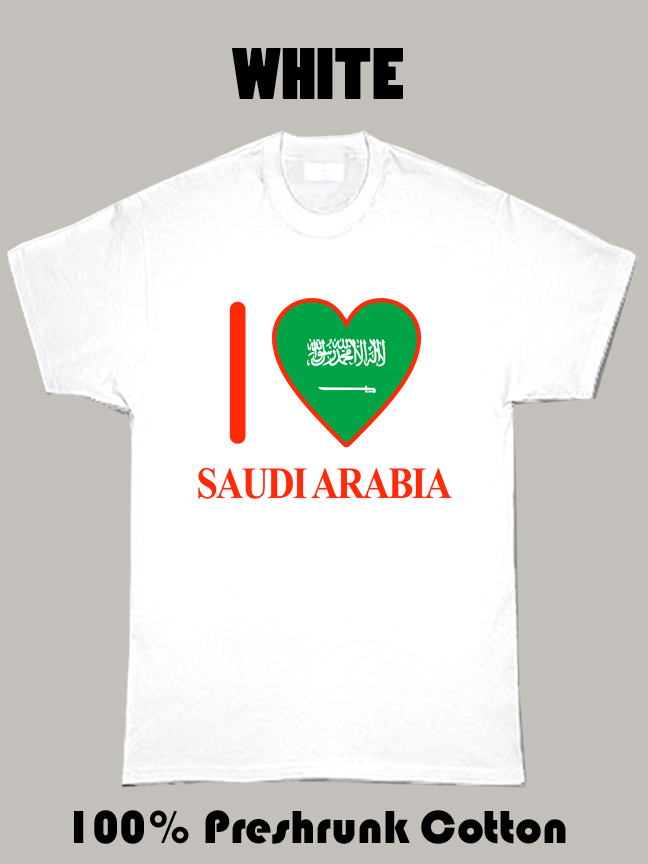 I Love Saudi Arabia Olympics Country T Shirt