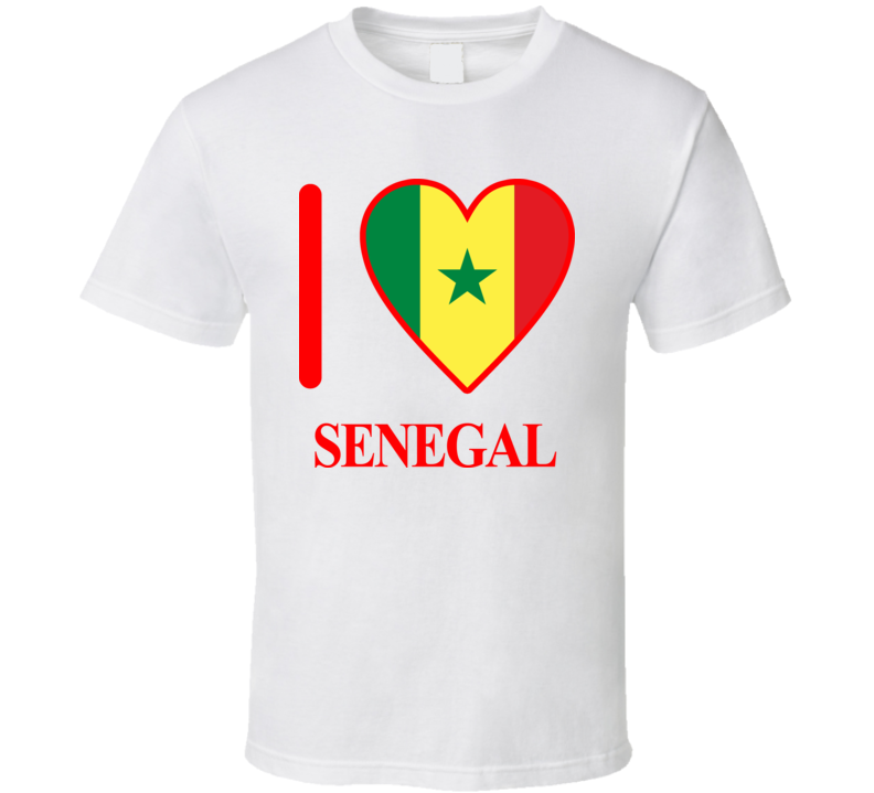 I Love Senegal Olympics Country T Shirt