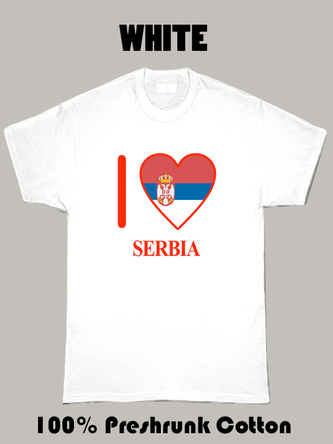 I Love Serbia Olympics Country T Shirt
