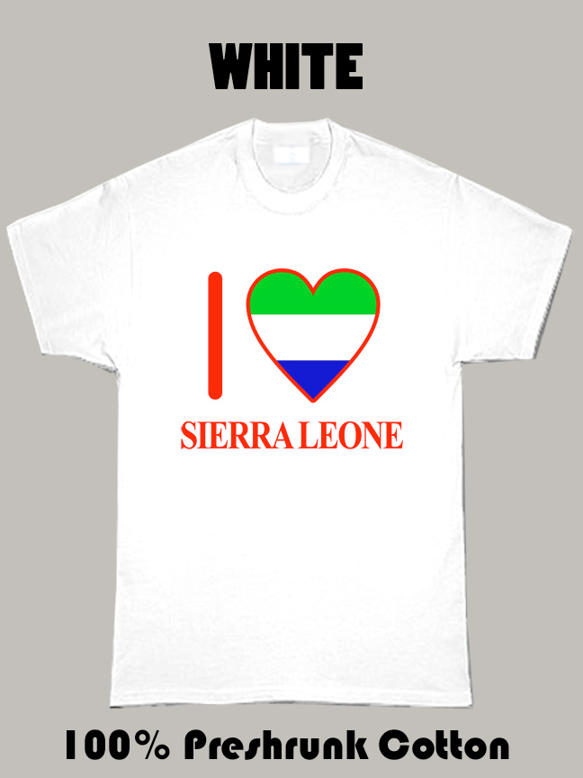 I Love Sierra Leone Olympics Country T Shirt