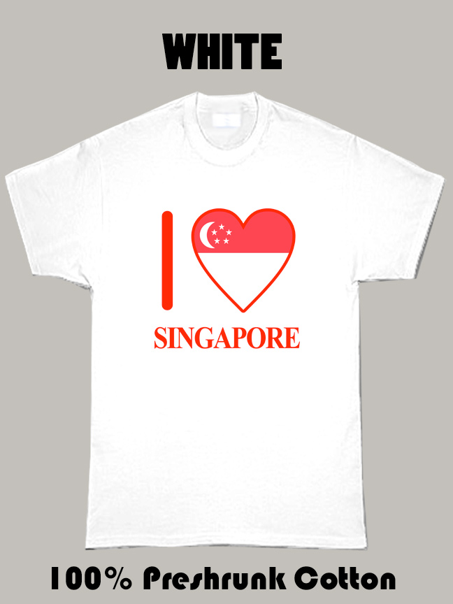 I Love Singapore Olympics Country T Shirt
