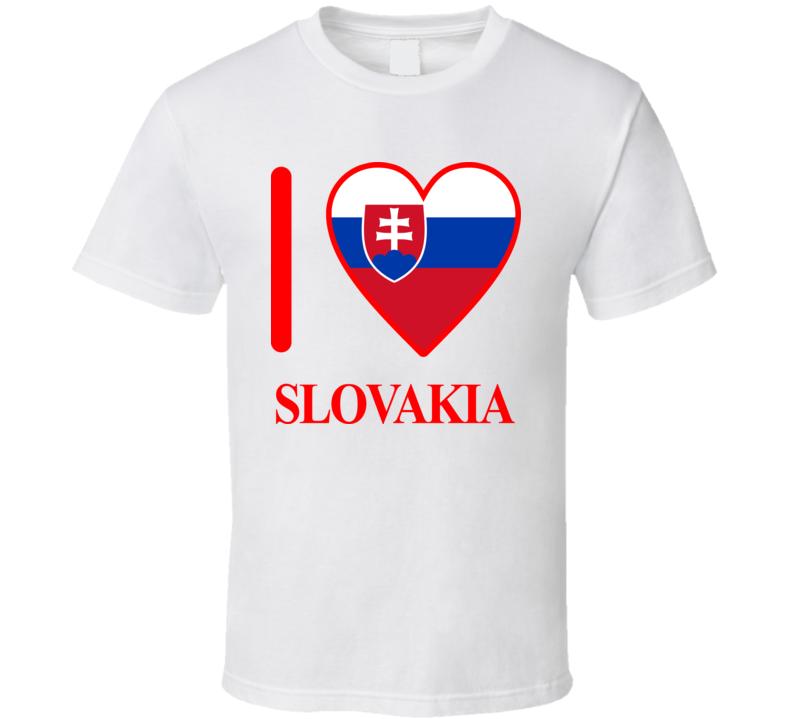 I Love Slovakia Olympics Country T Shirt