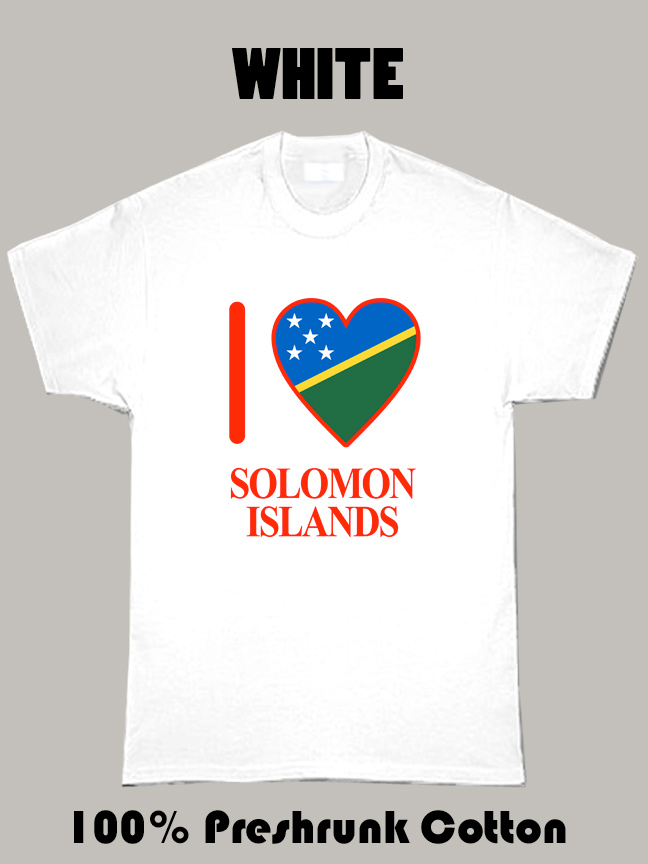 I Love Solomon Islands Olympics Country T Shirt