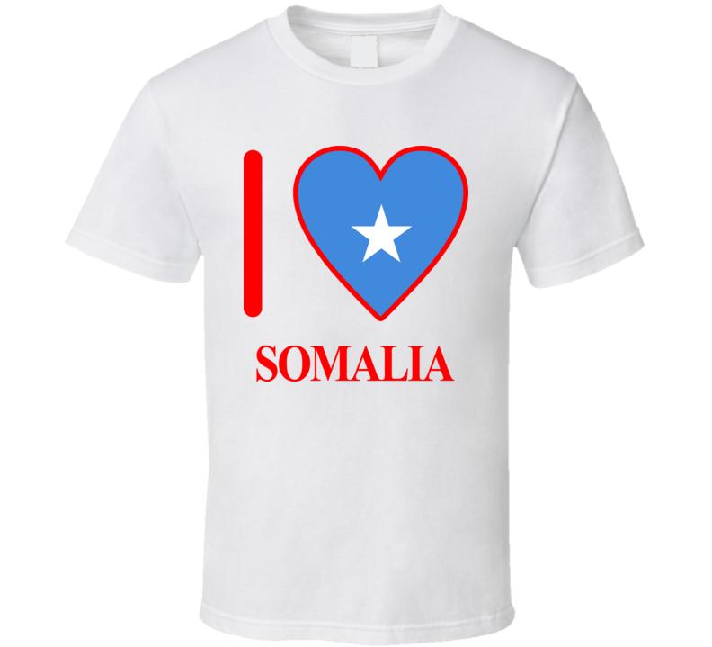 I Love Somalia Olympics Country T Shirt