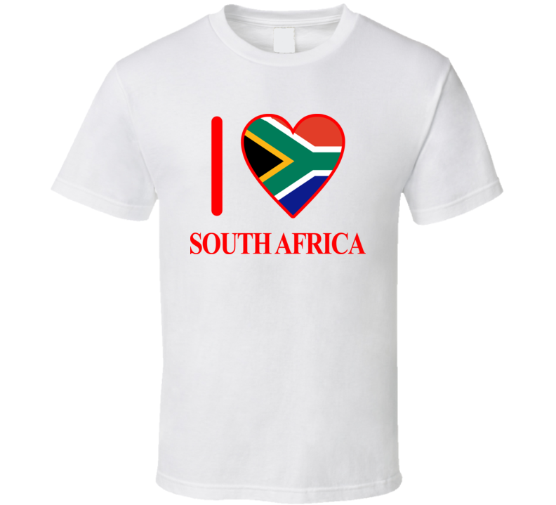 I Love South Africa Olympics Country T Shirt