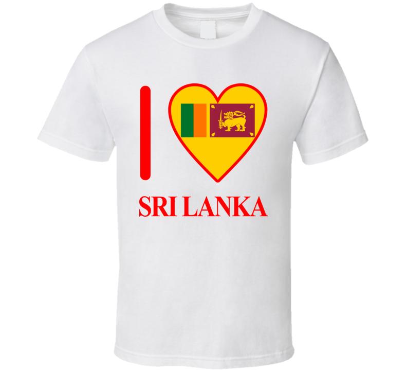 I Love Sri Lanka Olympics Country T Shirt