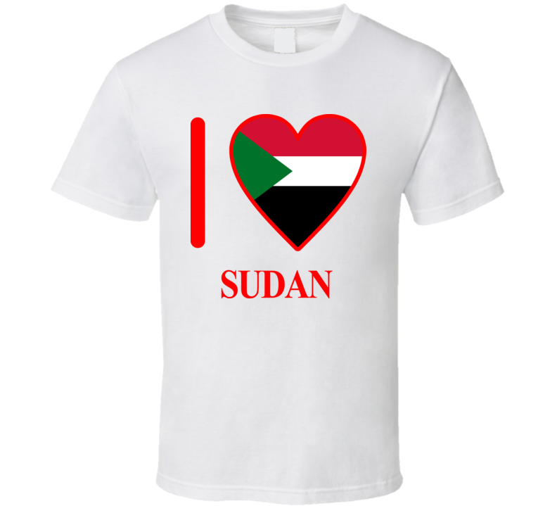I Love Sudan Olympics Country T Shirt