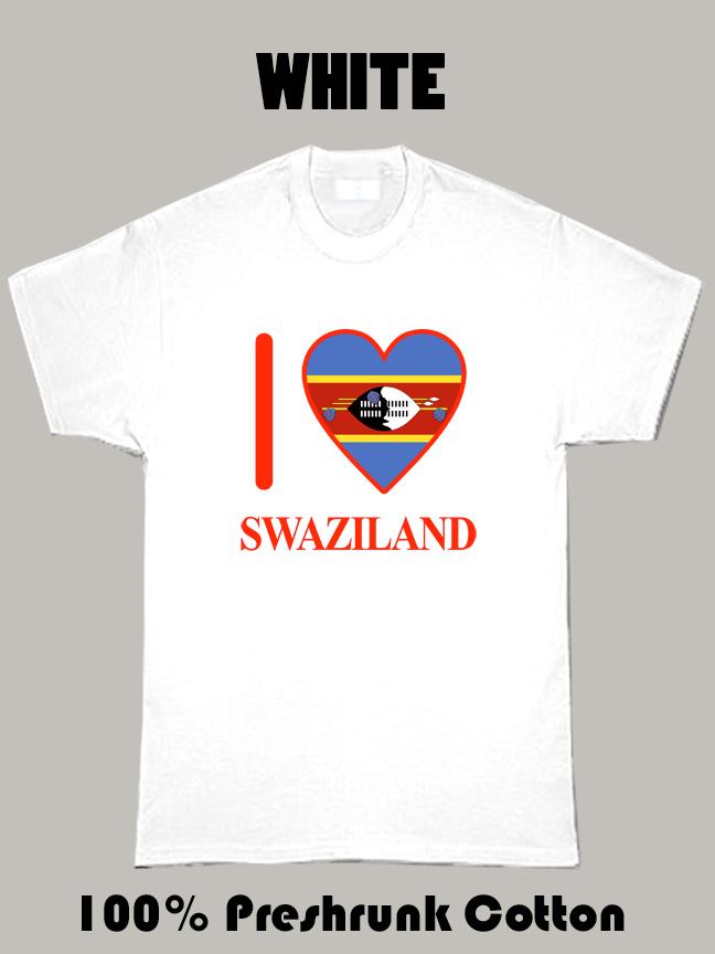 I Love Swaziland Olympics Country T Shirt