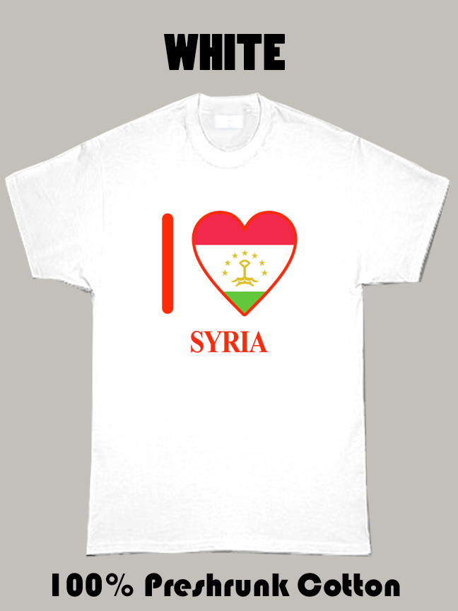 I Love Syria Olympics Country T Shirt