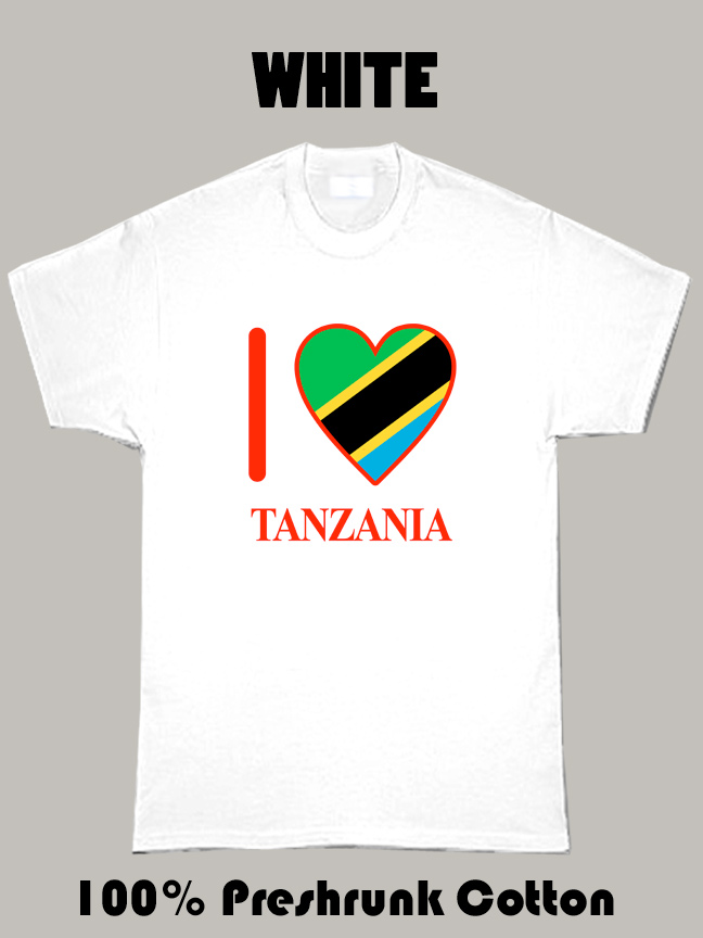 I Love Tanzania Olympics Country T Shirt
