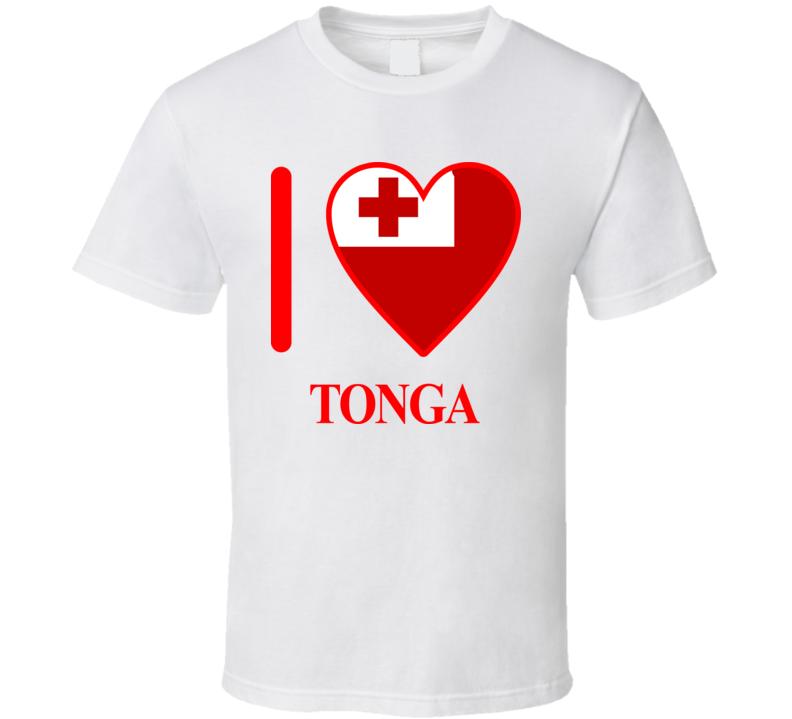 I Love Tonga Olympics Country T Shirt