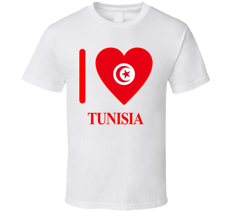 I Love Tunisia Olympics Country T Shirt