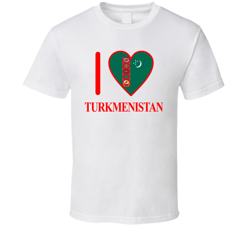 I Love Turkmenistan Olympics Country T Shirt