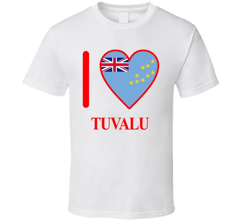 I Love Tuvalu Olympics Country T Shirt