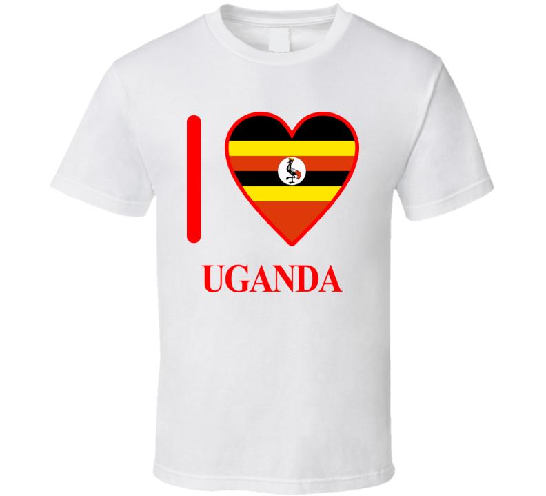 I Love Uganda Olympics Country T Shirt
