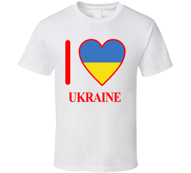 I Love Ukraine Olympics Country T Shirt