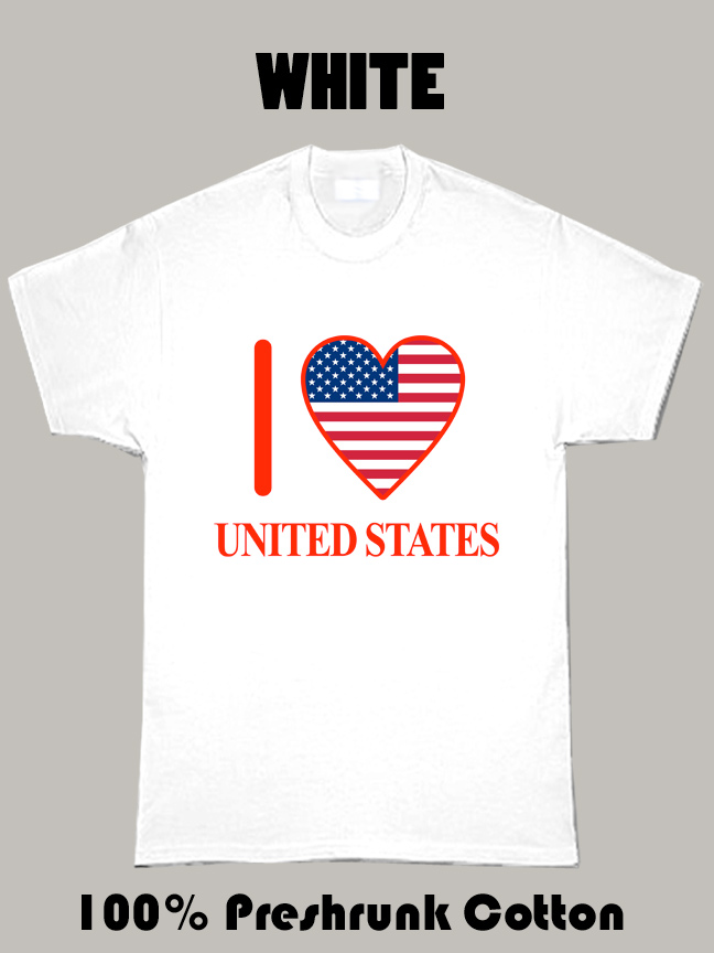 I Love United States Olympics Country T Shirt
