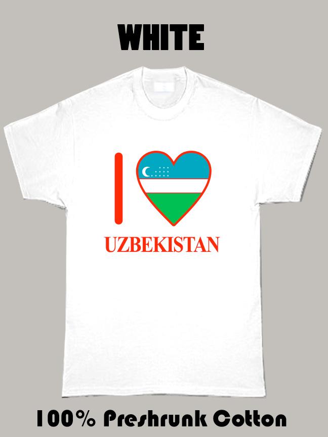 I Love Uzbekistan Olympics Country T Shirt