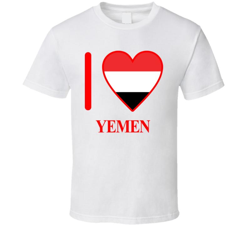 I Love Yemen Olympic Country T Shirt