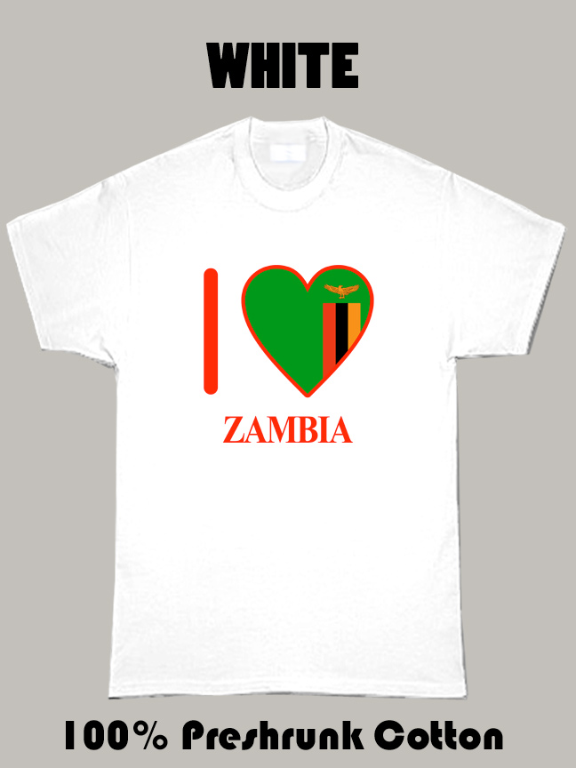 I Love Zambia Olympic Country T Shirt