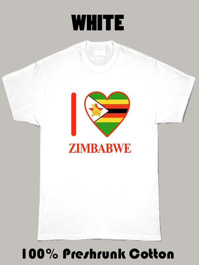 I Love Zimbabwe Olympic Country T Shirt