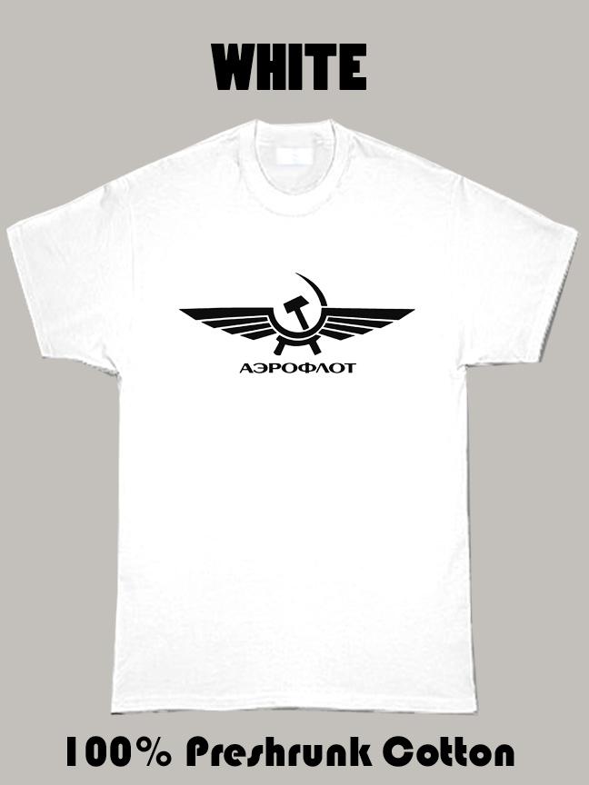 Aeroflot Logo  T Shirt