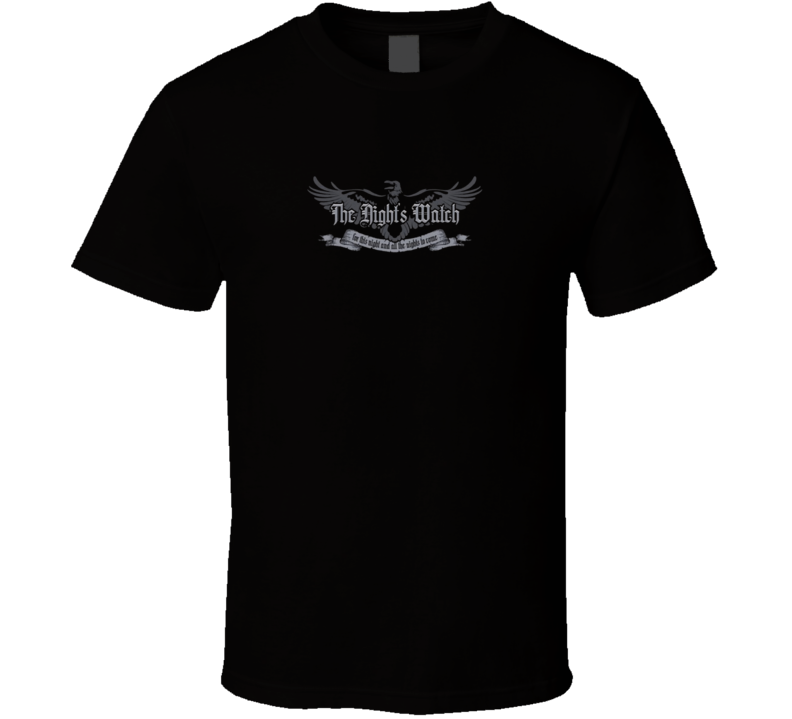 The Night's Watch Emblem t-shirt Game of Thrones Shirt Style Shirt Color Shirt Size