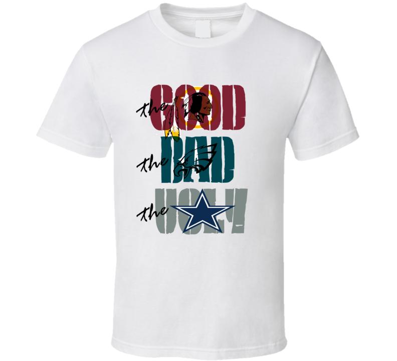 Washington Redskins Fan Western movie spoof Cowboys Eagles football fan trending t-shirt