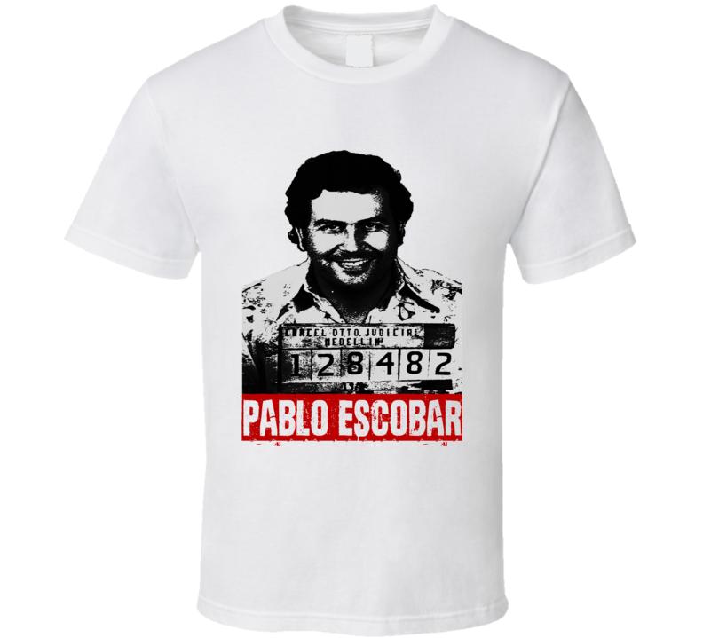 Pablo mugshot Escobar Narcos trending fan t-shirt