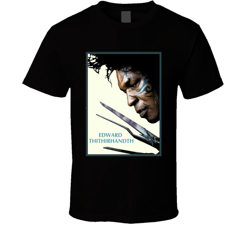 Mike Tyson movie mash up Edward Sissorhands Lisp style fun t-shirt 2