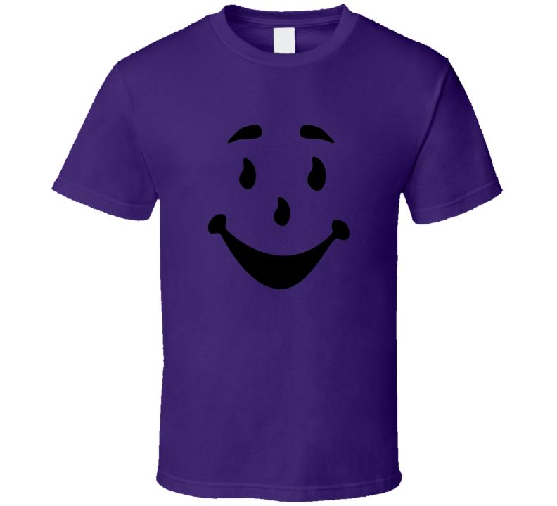 Kool Aid man face Oh Yeah classic kids punch drink t-shirt black