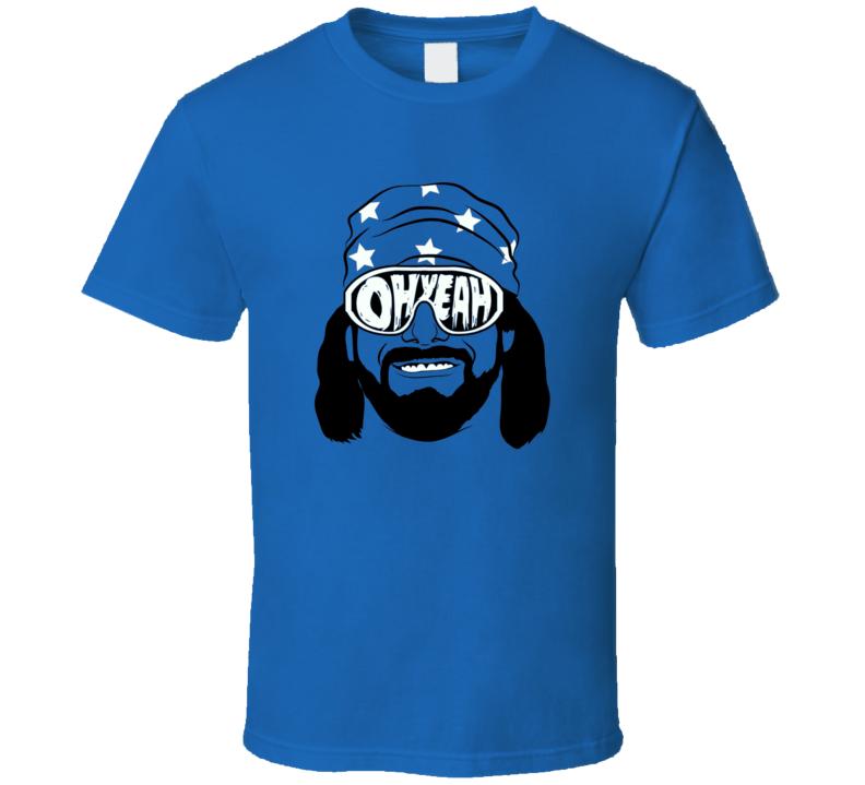 Randy Macho Man Savage classic wrestling star oh yeah t-shirt