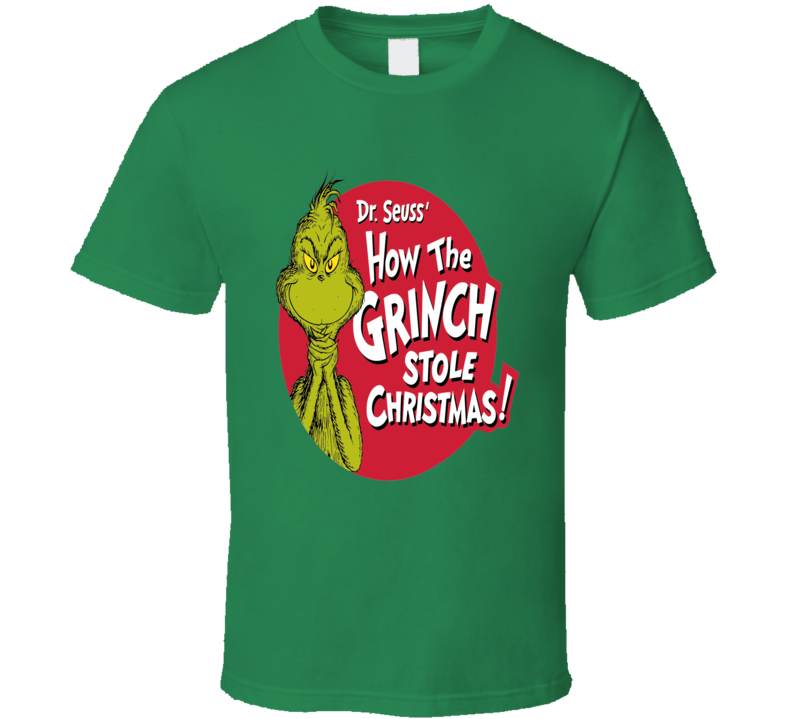How the Grinch Stole Christmas Children's Dr. Seuss holiday classic t-shirt