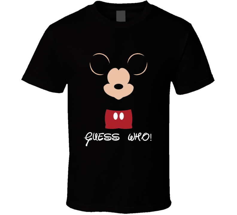 Famous mouse funny guess who mickey fan gt-shirt