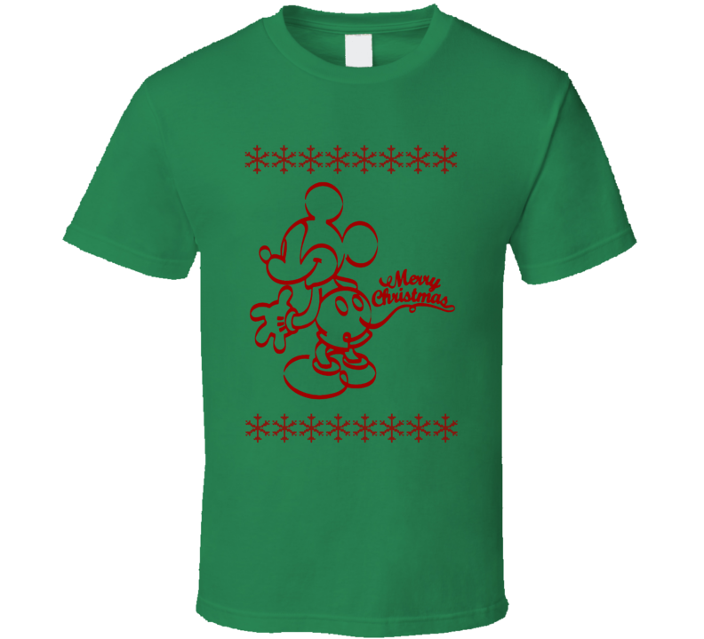Mickey Merry Christmas Sweater design retro holiday t shirt