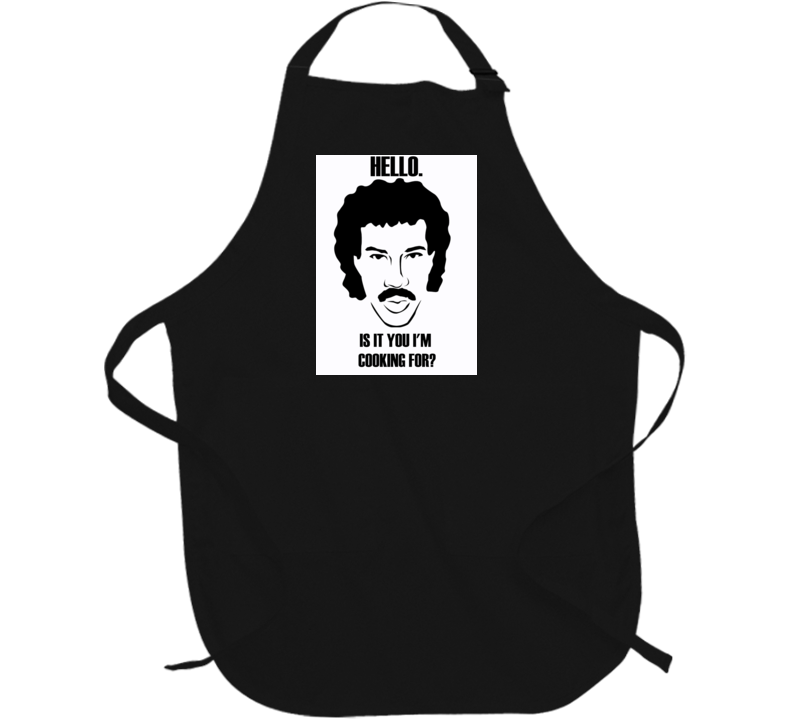 Hello Richie inspired funny BBQ Apron funny t-shirt black apron