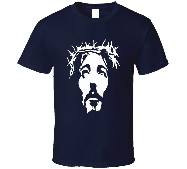 Jesus Christ silhoutte face Christian faith t-shirt