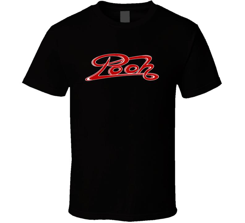 I POOH Italian retro pop band Rock Music Red logo t-shirt