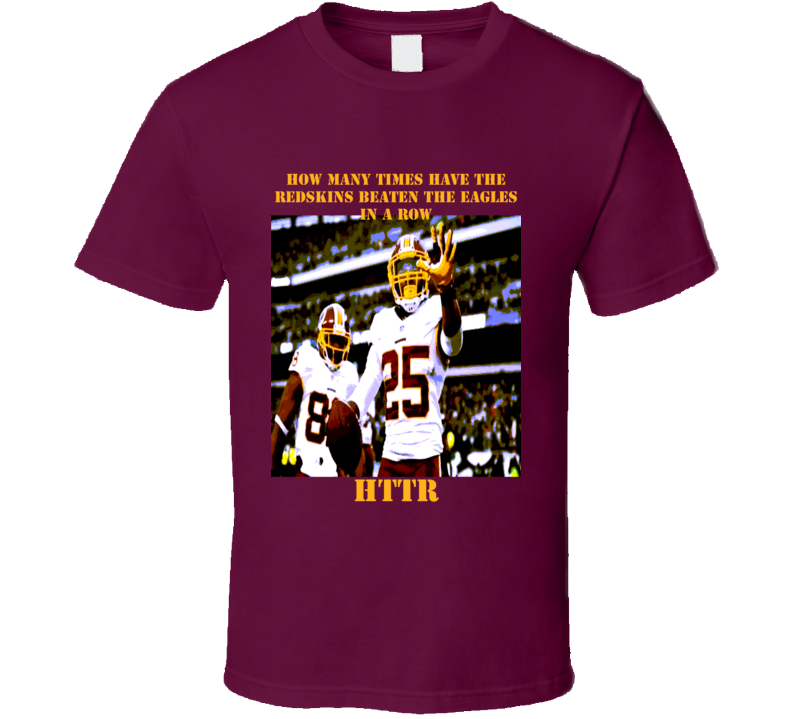 Washington Redskins Super fan Beat the Eagles HTTR cartoon comic effect t-shirt