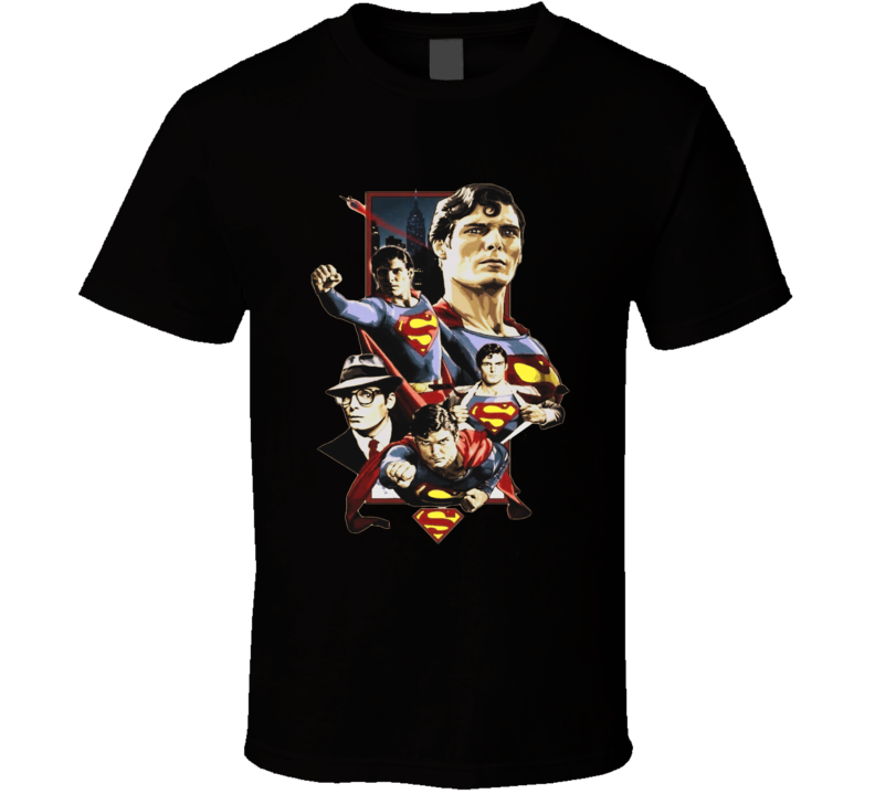 Superman Movie Comics t-shirt Christopher Reeve Clark Kent t-shirt