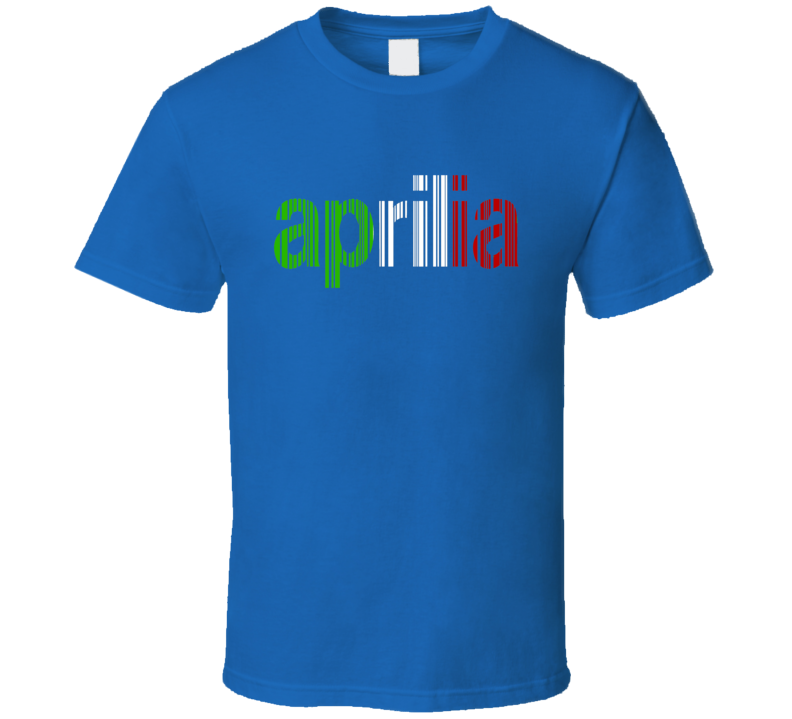 Aprilia Bar code logo Italian flag colors moto GP Racing t-shirt