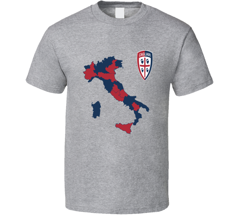 Cagliari Italian Seria A soccer team logo colors football fan t-shirt.png