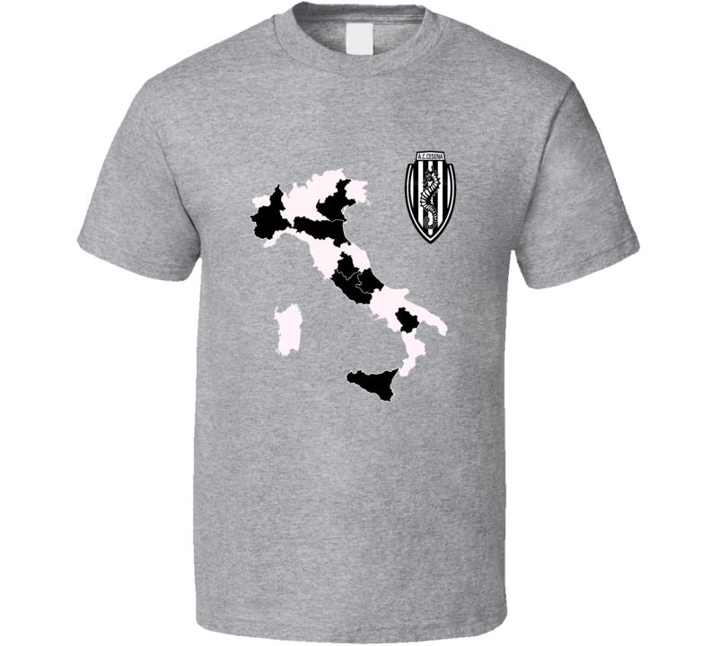 A.C. Cesna Italian Seria A soccer team logo colors football fan t-shirt