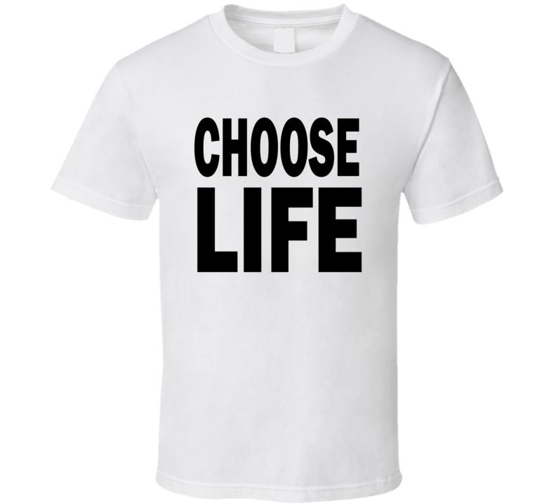 Choose Life 80s George Michael Andrew Ridgeley dance group t-shirt