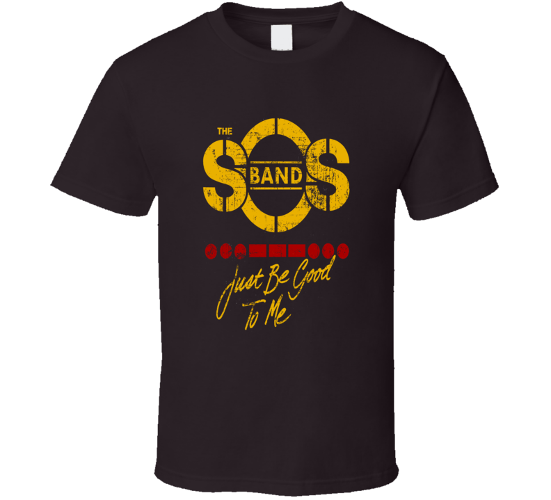 SOS band Just be good to me distressed album cover style t-shirt
