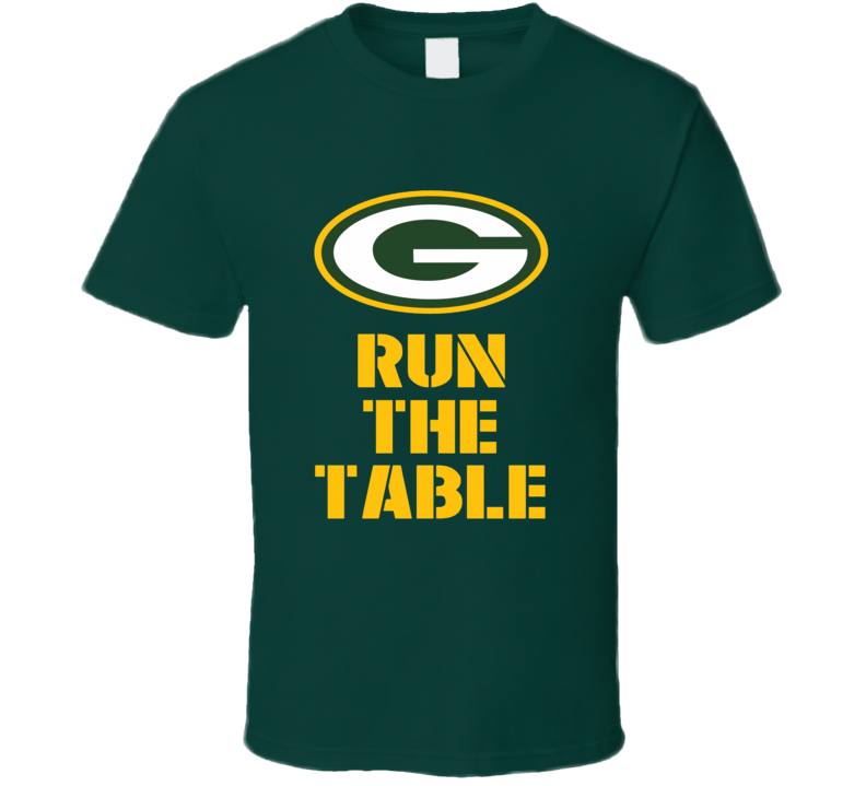 Green Bay Packers Run the Table Aaron Rodgers 2016 t-shirt