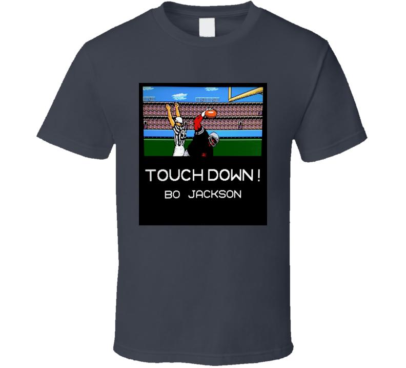 Tecmo Bowl Bo Jacskon Raiders retro NES video games t-shirt 2