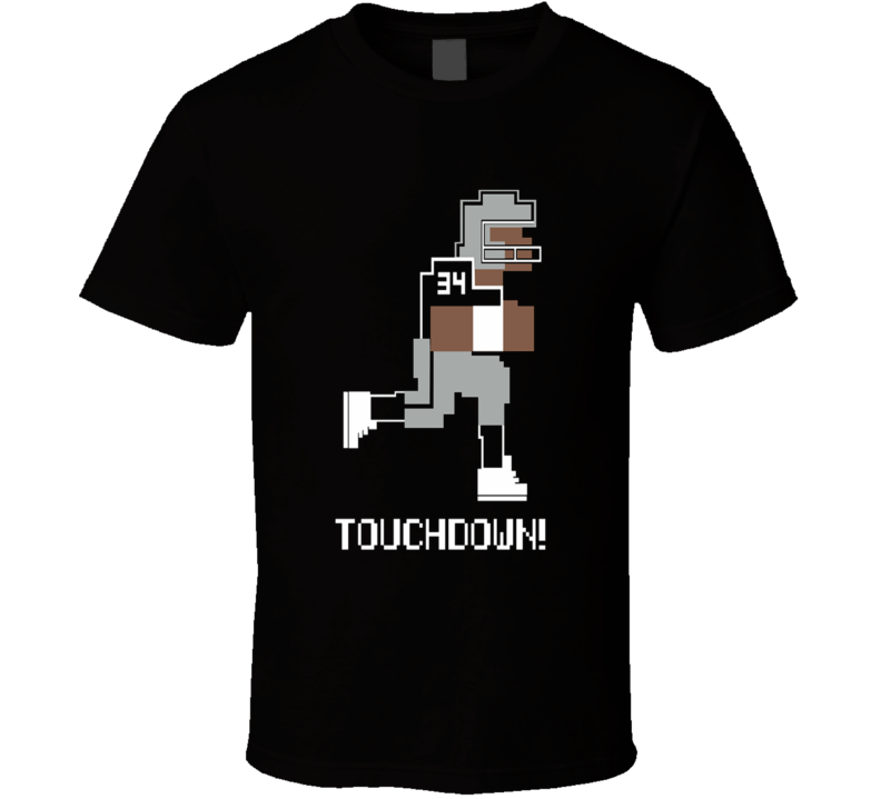 Tecmo Bowl Bo Jackson Touchdown Raiders NES retro t-shirt