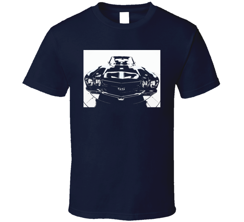 Chevy SS Chevelle classic muscle car front end grills t-shirt 2