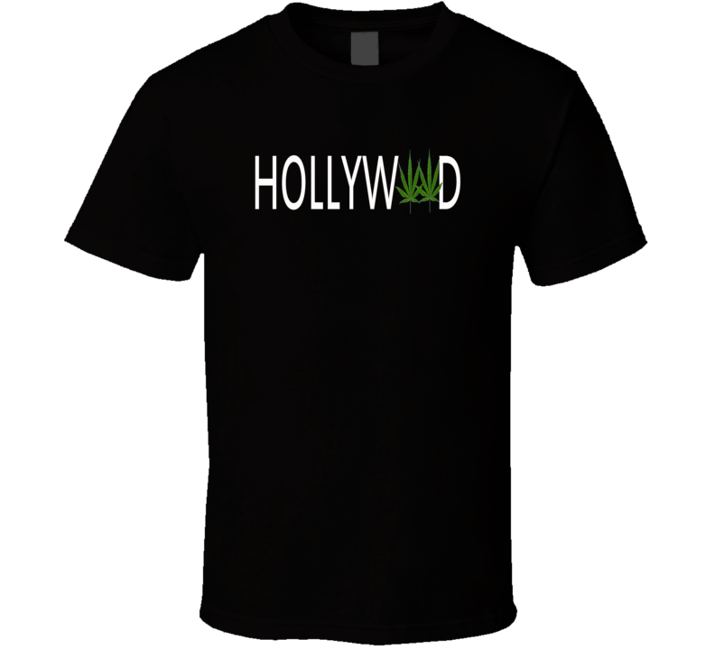 Hollyweed Hollywood sign spoof tending t-shirt